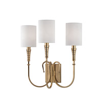 Hudson Valley Lighting Kensington 3 Light Wall Sconce in Aged Brass 4093-AGB