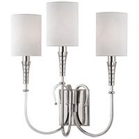 Hudson Valley Lighting Kensington 3 Light Wall Sconce in Polished Nickel 4093-PN