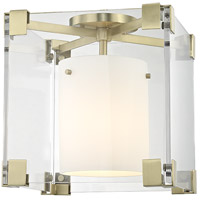Hudson Valley 4100-AGB Achilles 1 Light 13 inch Aged Brass Flush Mount Ceiling Light