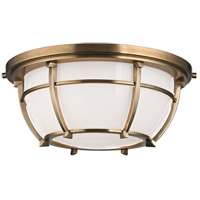 Conrad 2 Light 12 inch Aged Brass Flush Mount Ceiling Light