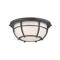 Hudson Valley Lighting Conrad 2 Light Flush Mount in Aged Zinc 4112-AZ