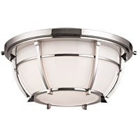 Conrad 2 Light 12 inch Polished Nickel Flush Mount Ceiling Light