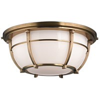 Conrad 3 Light 16 inch Aged Brass Flush Mount Ceiling Light