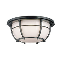Hudson Valley Lighting Conrad 3 Light Flush Mount in Aged Zinc 4115-AZ