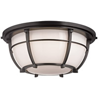 Conrad 3 Light 16 inch Old Bronze Flush Mount Ceiling Light