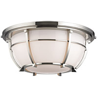 Conrad 3 Light 16 inch Polished Nickel Flush Mount Ceiling Light