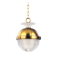 Hudson Valley Lighting Winfield 1 Light Pendant in Aged Brass 412-AGB