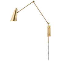 Hudson Valley 4121-AGB Lorne 1 Light Aged Brass Wall Sconce Wall Light
