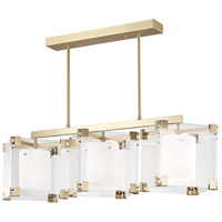 Hudson Valley 4154-AGB Achilles 3 Light 54 inch Aged Brass Island Light Ceiling Light