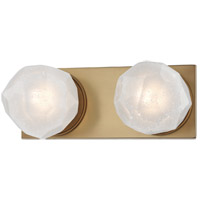 Aged Brass Metal Bathroom Vanity Lights