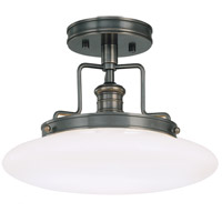 Beacon 1 Light 12 inch Old Bronze Semi Flush Ceiling Light
