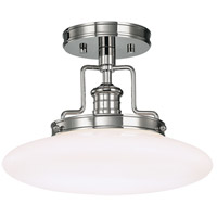 Beacon 1 Light 12 inch Polished Nickel Semi Flush Ceiling Light