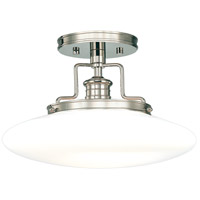 Hudson Valley 4205-PN Beacon 1 Light 15 inch Polished Nickel Semi Flush Ceiling Light  thumb