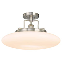 Beacon 1 Light 18 inch Satin Nickel Semi Flush Ceiling Light