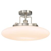 Hudson Valley 4208-SN Beacon 1 Light 18 inch Satin Nickel Semi Flush Ceiling Light