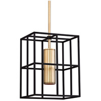 Hudson Valley LaGrange 1 Light Pendant in Aged Brass 4212-AGB