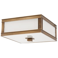 Preston 2 Light 13 inch Aged Brass Flush Mount Ceiling Light