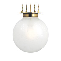 Hudson Valley Lighting Blaine 1 Light Pendant in Aged Brass with Clear Bubble Glass Frosted Inside Shade 4214-AGB-FB