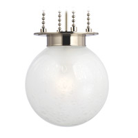 Hudson Valley Lighting Blaine 1 Light Pendant in Polished Nickel with Clear Bubble Glass Frosted Inside Shade 4214-PN-FB