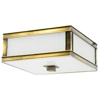 Preston 3 Light 16 inch Aged Brass Flush Mount Ceiling Light