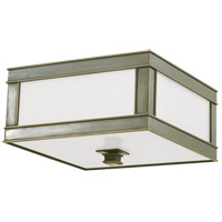 Preston 3 Light 16 inch Historic Nickel Flush Mount Ceiling Light