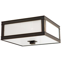 Preston 3 Light 16 inch Old Bronze Flush Mount Ceiling Light