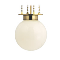 Hudson Valley Lighting Blaine 1 Light Pendant in Aged Brass with Opal Glossy Glass Shade 4217-AGB-OP