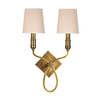 Westbury 2 Light 13 inch Aged Brass Wall Sconce Wall Light in Eco Paper