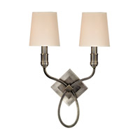 Hudson Valley Lighting Westbury 2 Light Wall Sconce in Aged Silver with Eco Paper Shade 422-AS