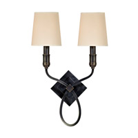 Westbury 2 Light 13 inch Old Bronze Wall Sconce Wall Light in Eco Paper