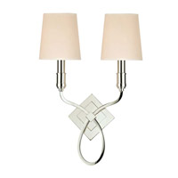 Hudson Valley Lighting Westbury 2 Light Wall Sconce in Polished Nickel with Eco Paper Shade 422-PN