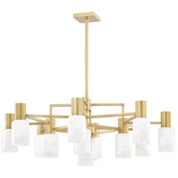 Hudson Valley 4237-AGB Centerport LED 37 inch Aged Brass Chandelier Ceiling Light
