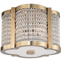 Hudson Valley Lighting Ballston 4 Light Flush Mount in Aged Brass 4301-AGB