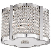 Ballston 4 Light 12 inch Polished Nickel Flush Mount Ceiling Light