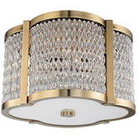 Ballston 4 Light 16 inch Aged Brass Flush Mount Ceiling Light