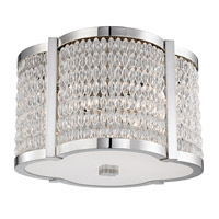 Hudson Valley Lighting Ballston 4 Light Flush Mount in Polished Nickel 4302-PN