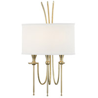 Damaris 3 Light 13 inch Aged Brass Wall Sconce Wall Light