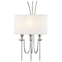 Damaris 3 Light 13 inch Polished Nickel Wall Sconce Wall Light