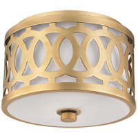 Genesee 1 Light 10 inch Aged Brass Flush Mount Ceiling Light