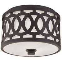 Genesee 1 Light 10 inch Old Bronze Flush Mount Ceiling Light