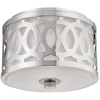 Genesee 1 Light 10 inch Polished Nickel Flush Mount Ceiling Light
