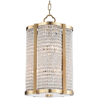 Ballston 8 Light 12 inch Aged Brass Pendant Ceiling Light
