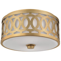 Hudson Valley Lighting Genesee 2 Light Flush Mount in Aged Brass 4314-AGB