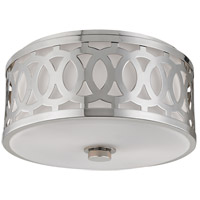 Genesee 2 Light 14 inch Polished Nickel Flush Mount Ceiling Light