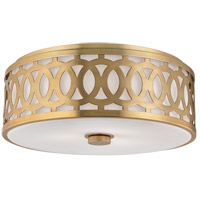 Hudson Valley Lighting Genesee 3 Light Flush Mount in Aged Brass 4317-AGB