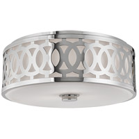 Genesee 3 Light 17 inch Polished Nickel Flush Mount Ceiling Light