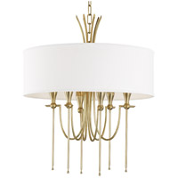 Hudson Valley 4322-AGB Damaris 6 Light 22 inch Aged Brass Chandelier Ceiling Light