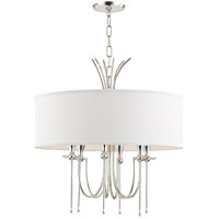 Hudson Valley 4322-PN Damaris 6 Light 22 inch Polished Nickel Chandelier Ceiling Light