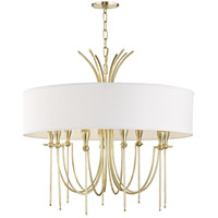 Damaris 9 Light 30 inch Aged Brass Chandelier Ceiling Light