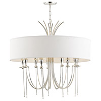 Damaris 9 Light 30 inch Polished Nickel Chandelier Ceiling Light
